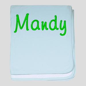 Mandy Glitter Gel baby blanket