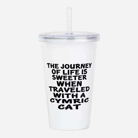 Traveled With cymric C Acrylic Double-wall Tumbler
