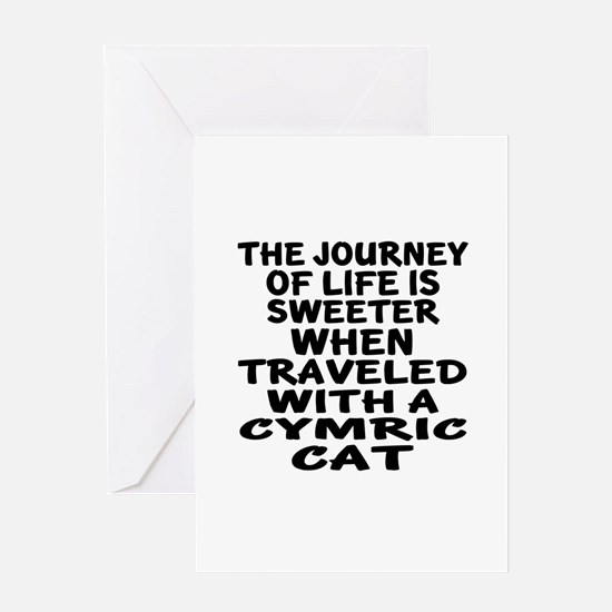 Traveled With cymric Cat Greeting Card