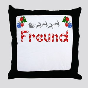 Freund, Christmas Throw Pillow