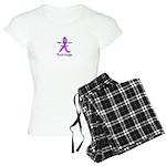 Male Breast Cancer Awareness Women's Light Pajamas