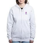 Male Breast Cancer Awareness Women's Zip Hoodie