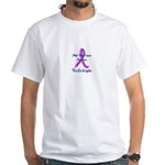 Male Breast Cancer Awareness White T-Shirt