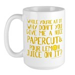 Lemon Juice Princess Bride Large Mug