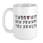 Princess Bride Twoo Wuv Large Mug