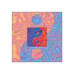 Blue and Orange Yin Yang Symbol Square Sticker 3