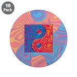 Blue and Orange Yin Yang Symbol 3.5