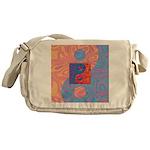 Blue and Orange Yin Yang Symbol Messenger Bag