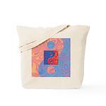 Blue and Orange Yin Yang Symbol Tote Bag