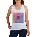 Blue and Orange Yin Yang Symbol Women's Tank Top