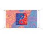 Blue and Orange Yin Yang Symbol Banner