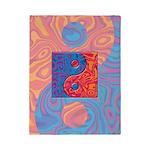 Blue and Orange Yin Yang Symbol Twin Duvet