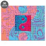 Pink Turquoise Yin Yang Puzzle