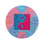 Pink Turquoise Yin Yang 3.5