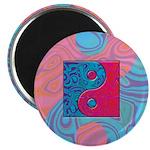 Pink Turquoise Yin Yang Magnet