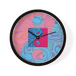 Pink Turquoise Yin Yang Wall Clock