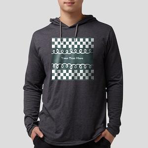 Custom Text Decorative Checkered Mens Hooded Shirt