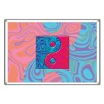 Pink Turquoise Yin Yang Banner