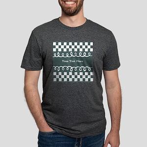 Custom Text Decorative Chec Mens Tri-blend T-Shirt