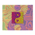 Purple Yellow Yin Yang Throw Blanket
