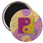 Purple Yellow Yin Yang Magnet