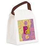 Purple Yellow Yin Yang Canvas Lunch Bag