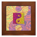 Purple Yellow Yin Yang Framed Tile