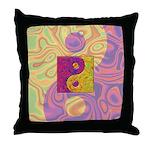 Purple Yellow Yin Yang Throw Pillow