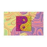 Purple Yellow Yin Yang 35x21 Wall Decal