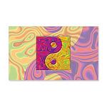 Purple Yellow Yin Yang 20x12 Wall Decal