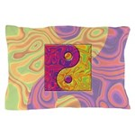 Purple Yellow Yin Yang Pillow Case