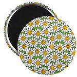 Smiley Daisy Flowers Pattern 2.25