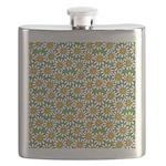Smiley Daisy Flowers Pattern Flask