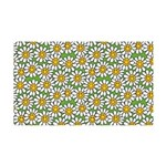 Smiley Daisy Flowers Pattern 35x21 Wall Decal