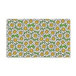 Smiley Daisy Flowers Pattern 20x12 Wall Decal