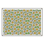 Smiley Daisy Flowers Pattern Banner