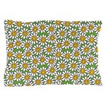 Smiley Daisy Flowers Pattern Pillow Case
