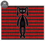 Goth Red Black Bunny Puzzle