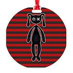 Goth Red Black Bunny Round Ornament