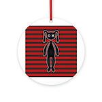 Goth Red Black Bunny Ornament (Round)