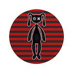 Goth Red Black Bunny 3.5