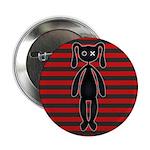 Goth Red Black Bunny 2.25