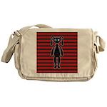 Goth Red Black Bunny Messenger Bag
