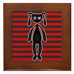 Goth Red Black Bunny Framed Tile