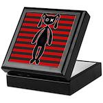 Goth Red Black Bunny Keepsake Box