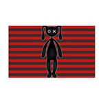 Goth Red Black Bunny 35x21 Wall Decal