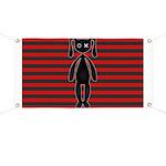 Goth Red Black Bunny Banner