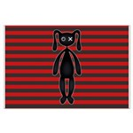 Goth Red Black Bunny Large Poster