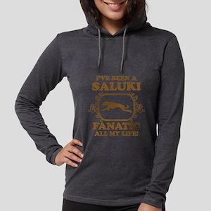 3-Saluki Womens Hooded Shirt