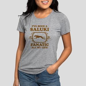 3-Saluki Womens Tri-blend T-Shirt